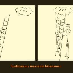 dwie grafiki zpodpisem Realizujemy marzenia biznesowe